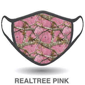 Realtree Pink Hunters Face Mask Antimicrobial